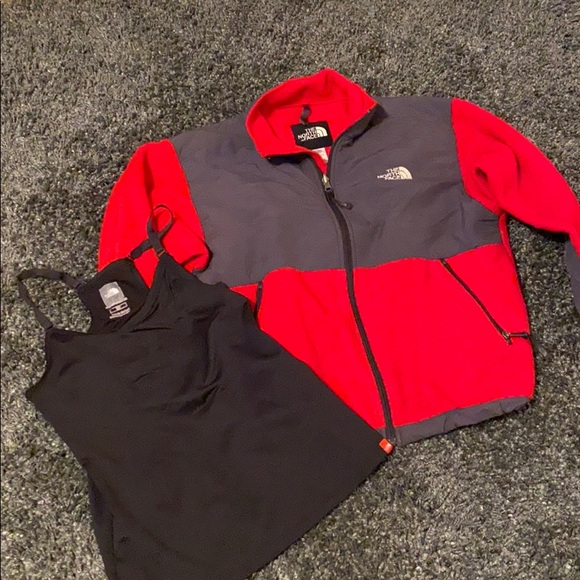 North Face fleece with FREE North Face tang top!